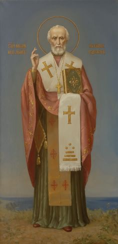 Святитель Николай Чудотворец. Икона корабельной церкви Николая Чудотворца. Святитель Николай жил в IV в. И был архиепископом в Малой Азии, в Ликийском городе Миры.