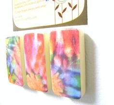 Magnets TIE DYE Locker decor Groovy Hippie Fun Birthday by MiaBooo, $6.00