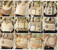 Love matches of fabrics  Mori style bags