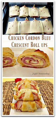 Chicken Cordon Bleu Crescent Roll Ups
