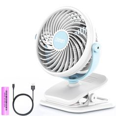 yellow Baby Office Clip-On Stroller Fan Cute Crib Cooling Fans Batteries//USB