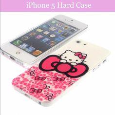 ANY 3 FOR $9HELLO KITTY PHONE CASE COVER Luxury fashion Hello Kitty Hard Case Cartoon skin back cover For Apple iphone 5s iphone5 mobile phone case Accessories Phone Cases