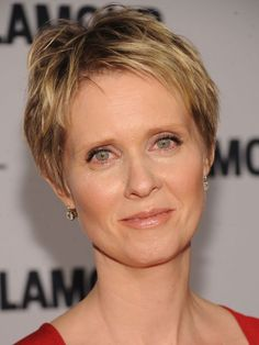 "Cynthia Nixon - ""Short hair is great for emphasizing your eyes and facial features,"" Perez explains. ""Oval faces can pull off just about any look. Nice, short fringes show all your features so the haircut can be extra-short with volume on top.""  25 Short Hairstyles - How To Style Short Hair"