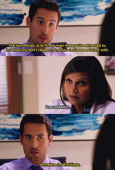 The Mindy project...maybe we should start watching this show!