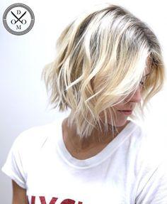 Blonde Messy Bob Hairstyle