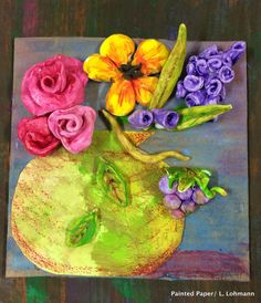PAINTED PAPERPAINTED PAPER ART | Art Projects for Kids | Art Lesson Plans | Crafts for Kids |  Monet Art Lessons |