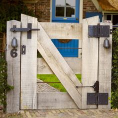 Front Yard Fence, Diy Fence, Fence Gate, Timber Gates, Wooden Gates, Farm Gate, Farm Fence, Backyard Gates, Country Fences