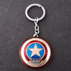 New The Avengers Marvel Character Captain America Shield Hulk Batman Mask KeyChain Keyrings Key Chain