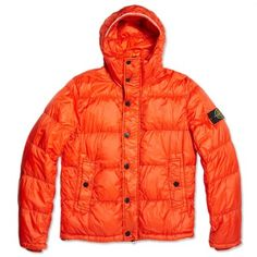 Stone Island Garment Dyed Down Jacket (Orange)