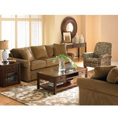 La-Z-Boy Collins Collection features a cozy corduroy with contrast welt detailing. A fun leaf pattern works well on the press back recliner and adds style to this casual collection.  Click the individual products to view details and warranty.