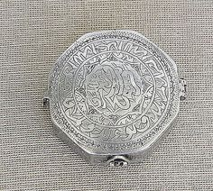 ANTIQUE PERSIAN ISLAMIC SILVER MINIATURE QURAN KURAN BOX AMULET TALISMAN 18th CE