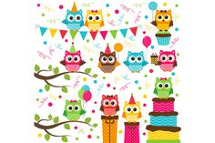 Check out Digital Owl Party Clip Art by LoveGraphicDesign on Creative Market