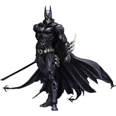 Batman has always taken out the trash in Gotham City with his mad ninja skillz, and the Batman DC Comics Play Arts Kai Variant Action Figure shows us what the vigilante would look like if he took on the look of a ninja... a heavily-armo