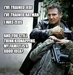Liam Neeson should probably be every movie.