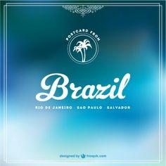 Blue Brazil free background