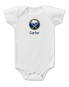 35870116f Babies of all sizes can wear their Personalized Buffalo Sabres bodysuit  with pride and show their. Columbus Blue ...