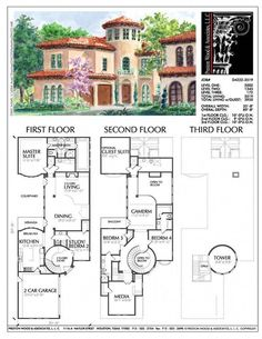 2 Family House Plans Luxury 2 Story House Plan Residential Floor Plans Family Home Two Story House Plans, Family House Plans, Country House Plans, Dream House Plans, House Floor Plans, Home And Family, Floor Plans 2 Story, Family Houses, Spanish Style Homes