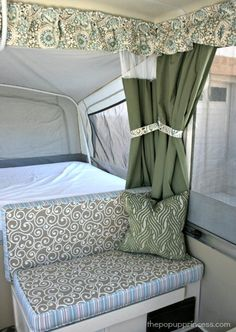 How to Sew Cushion Covers for your Camper Hybrid Camper, Popup Camper, Diy Camper, Camper Life, Camper Hacks, Rv Life, Camper Renovation, Camper Remodeling, Camper Makeover