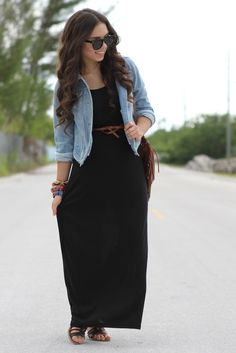 Black maxi dress muy casualll y super relajado..