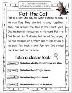TAKE A CLOSER LOOK: CLOSE READING FOR FIRST GRADE - FREEBIE! TeachersPayTeachers.com