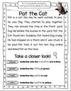TAKE A CLOSER LOOK: CLOSE READING FOR FIRST GRADE - FREEBIE! TeachersPayTeachers.com