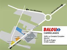 :: BALOU Carrelages :: plan acces