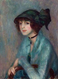William James Glackens (American: 1870–1938) - The Brunette (1913)