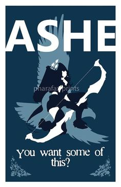 Ashe League of Legends Print by pharafax on Etsy $16.00