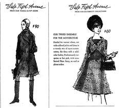 New York Times, 09 Nov Ad for Saks Fifth Avenue. Saks Fifth Avenue, Vintage Advertisements, Collars, Maternity, York, Times, Paper, Fashion, Moda