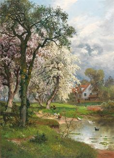 Alois Arnegger* is an Austrian painter*, well known for his Austrian and Italian scene paintings. Alois Arnegger was born in Vienna in For biographical notes -in english and italian- and other works by Arnegger see: Alois Arnegger Landscape Photos, Landscape Art, Landscape Paintings, Watercolor Paintings, Paintings I Love, Beautiful Paintings, Beautiful Landscapes, Country Scenes, Landscape Illustration