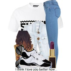 When People stare at me i be like bish do i know u or nahh ?, created by trillest-queen on Polyvore