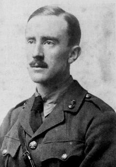 J. R. R. Tolkien in army uniform, 1916