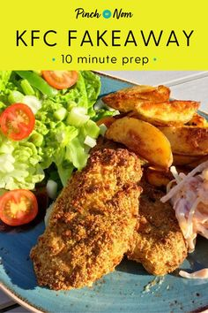 Recipes Snacks Quick This KFC Fakeaway was one of the first recipes we came up with, and it's still one of our favourites. Clean Eating Recipes, Diet Recipes, Snack Recipes, Cooking Recipes, Healthy Recipes, Recipies, Healthy Diet Tips, Healthy Eating, Slimming World Fakeaway