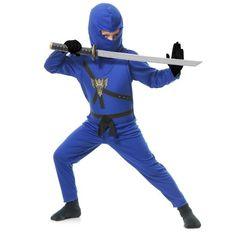 16736c7f0087 Ninja Kids Halloween Costume, Girl's, Size: Child S (6-8), Blue