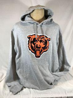 49d95e31e Chicago Bears Hoodie Sweatshirt PRO LINE Fanatics Logo Gray XL NFL   football  ChicagoBears