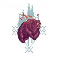 Aterradora ilustración de dibujos animados de werebear vector gratuito 53ce814326bb