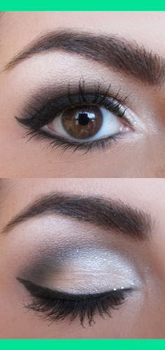white...tutorial here http://www.beautylish.com/v/rzjcii/sheer-silver-smokey-eyes | Marby B.'s (marby) Photo | Beautylish