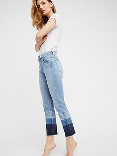 Shelter Straight Leg Crop at Free People Clothing Boutique Denim Look, Free People Clothing, Casual Street Style, Spring Summer Fashion, What To Wear, Cool Outfits, My Style, Shelter, Clothes