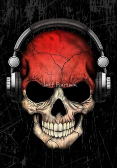 Dj Skull Indonesian Flag