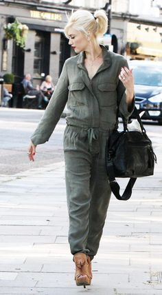 gwen stefani - army green jumpsuit, this is the only jumpsuit i would wear