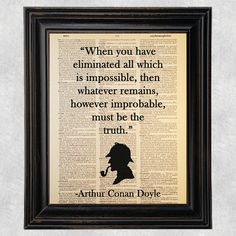 Hey, I found this really awesome Etsy listing at https://www.etsy.com/listing/213040760/improbable-truth-quote-sherlock