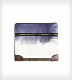 Leather, Waxed & Hand-Dyed Canvas iPad Case