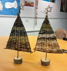 Image result for woven. christmas trees