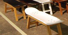 Banc Skate pour les fans de glisse skateboard, surf. idéal magasin de surf, mobilier planche skate | Déco | Pinterest | Skateboard, Surf and Fans