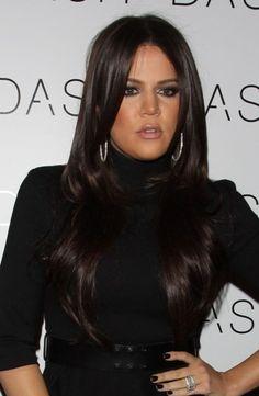 Khloe Kardashians long, lustrous hairstyle and beauty Khloe Kardashian, Look Fashion, Fashion Beauty, Celebs, Celebrities, Celebrity Hairstyles, Gorgeous Hair, Hair Hacks, Her Hair