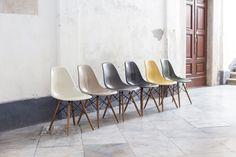 Sei sedie DSW Ray & Charles Eames