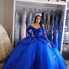 Blue Ball Gowns, Ball Gowns Prom, Ball Dresses, Prom Dresses, Navy Blue Quinceanera Dresses, Cinderella Quinceanera Dress, Cinderella Dresses, Formal Dresses, Mexican Quinceanera Dresses