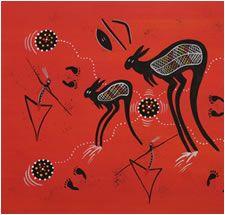 """Aboriginal Art - """"Hunter & Gatherer""""  Artist :Tommy Crow  Region:Northern Queensland"""