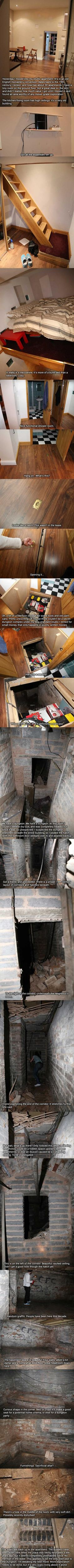 One could only wish. Amazing Secret Dungeon discovered under my new apartment…