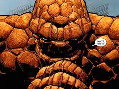 La Cosa. El gigantón de Cuatro Fantásticos sólo tiene rocas ahí abajo. Su novia Alicia incluso llega a romper con él y le sustituye por Johnny Storm/La Antorcha Humana... dejando bien claro el porqué.